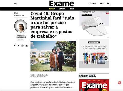 EXAME, Martinhal Family Hotels