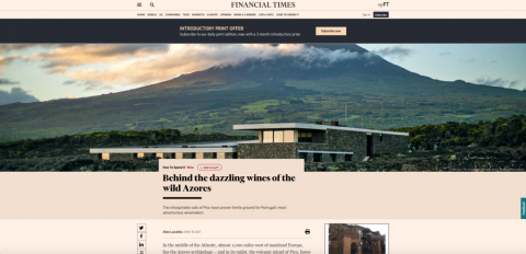 FT / HOW TO SPEND IT, Azores Wine Company